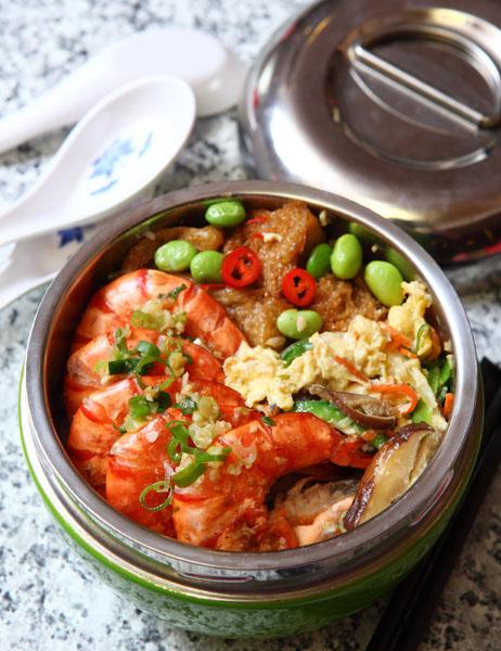 葱蒜椒盐虾