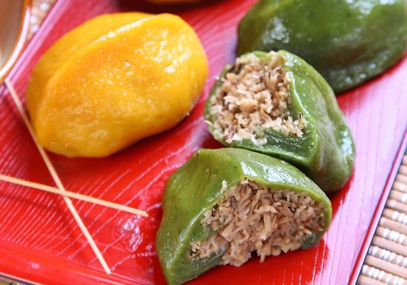 客家古早味:猪笼粄,颜色鲜艳的另类菜