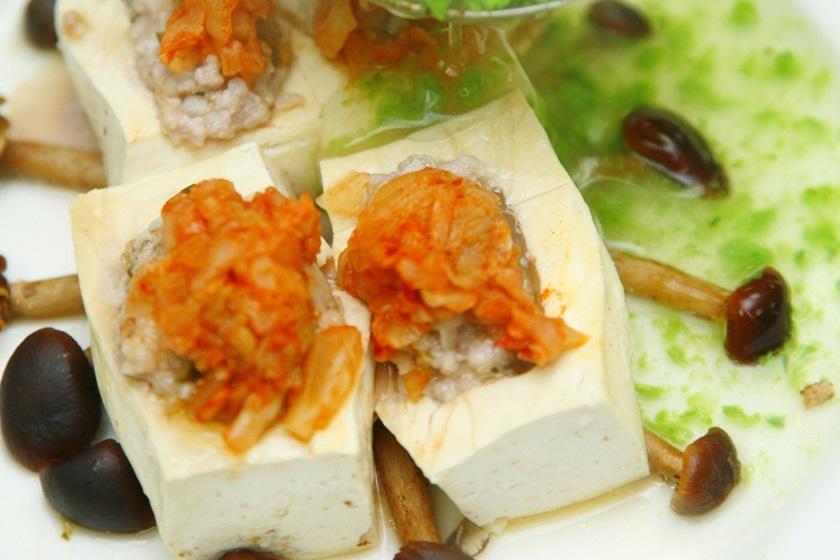 泡菜蒸豆腐