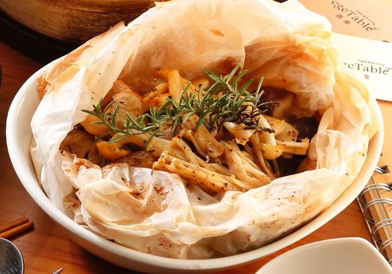 日式纸包菇