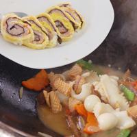 虾浆蛋捲烩三鲜