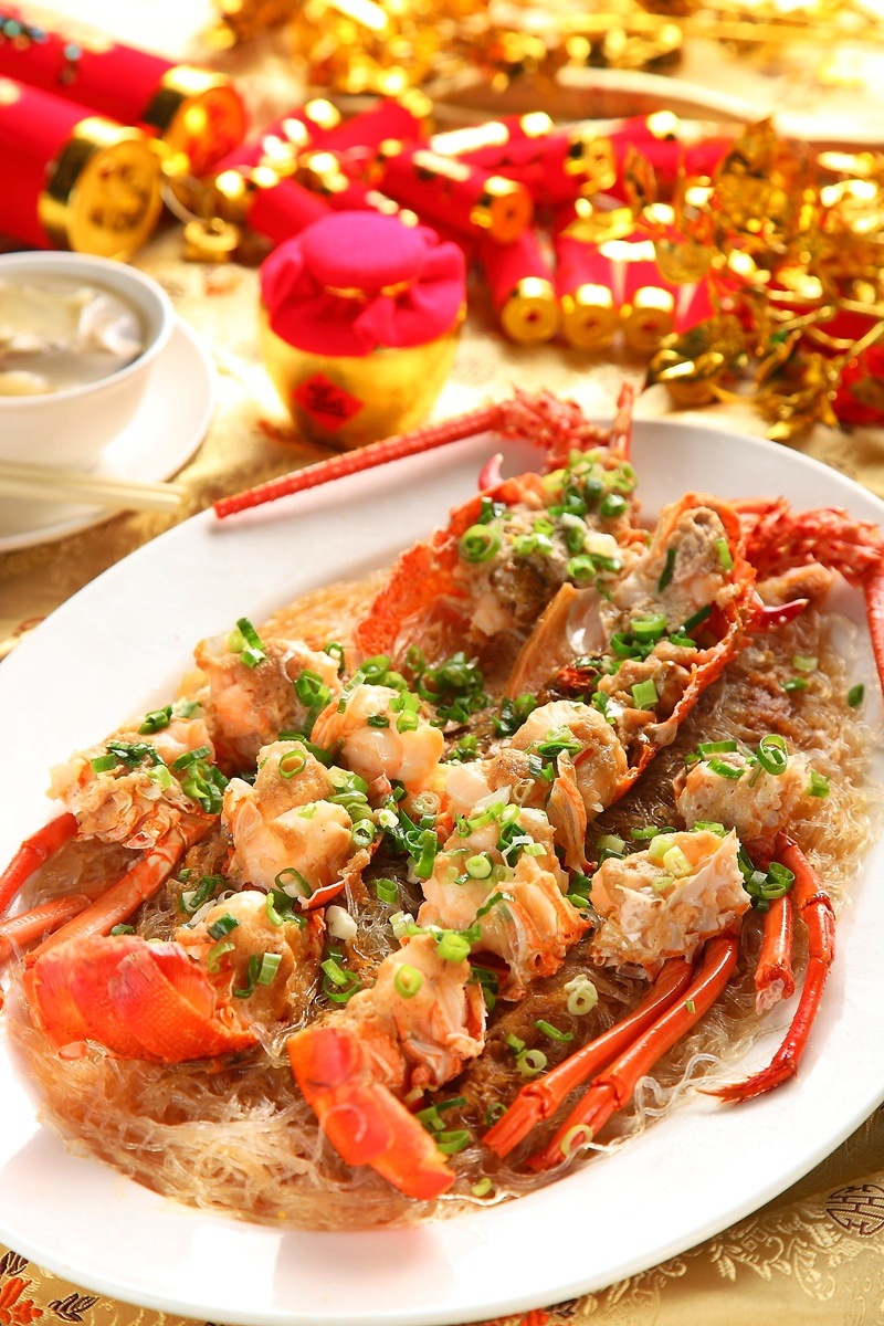 金丝蒸龙虾
