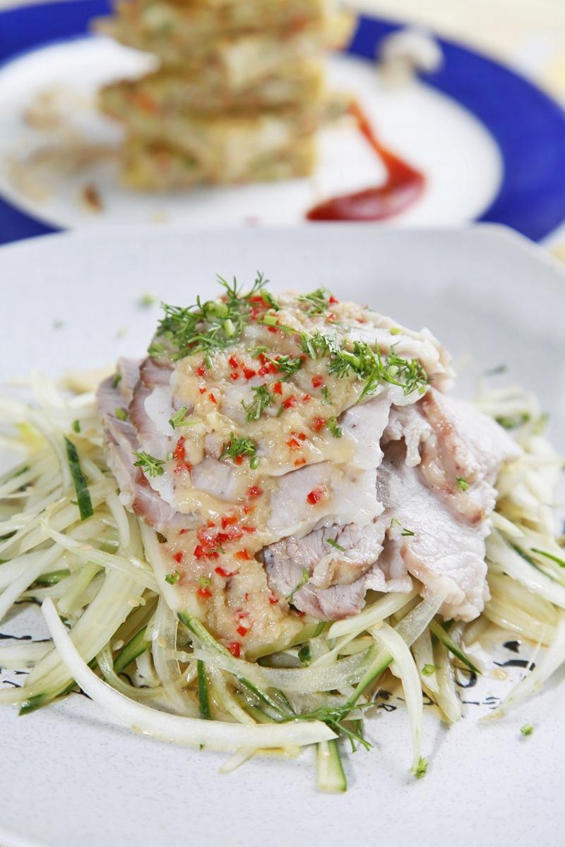 三层肉变身•韩风白肉沙拉