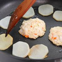 豆腐魩仔鱼汉堡排