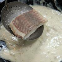洋菇奶油鲷鱼排