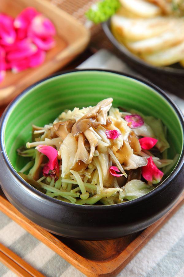 玫瑰烤鲜菇