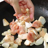 杏鲍菇卤鸡肉