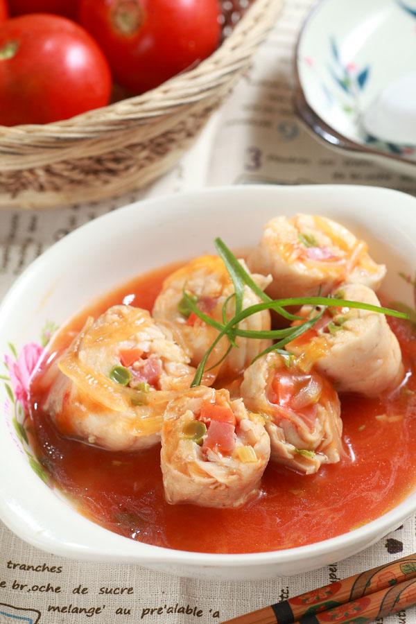 清蒸蔬菜鱼卷