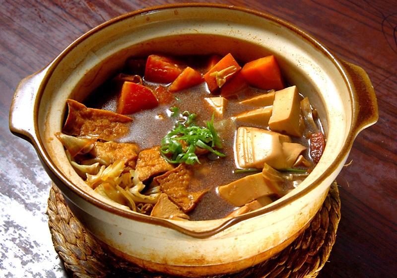蔬菜味噌豆腐锅