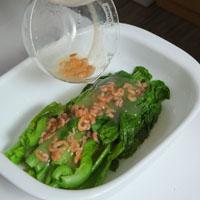 【微波炉上菜】虾米芥菜心