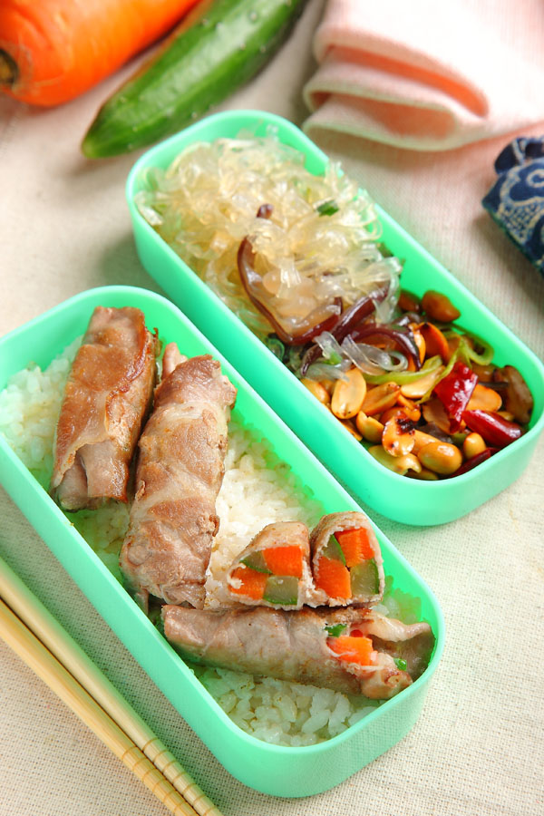 猪肉蔬菜捲