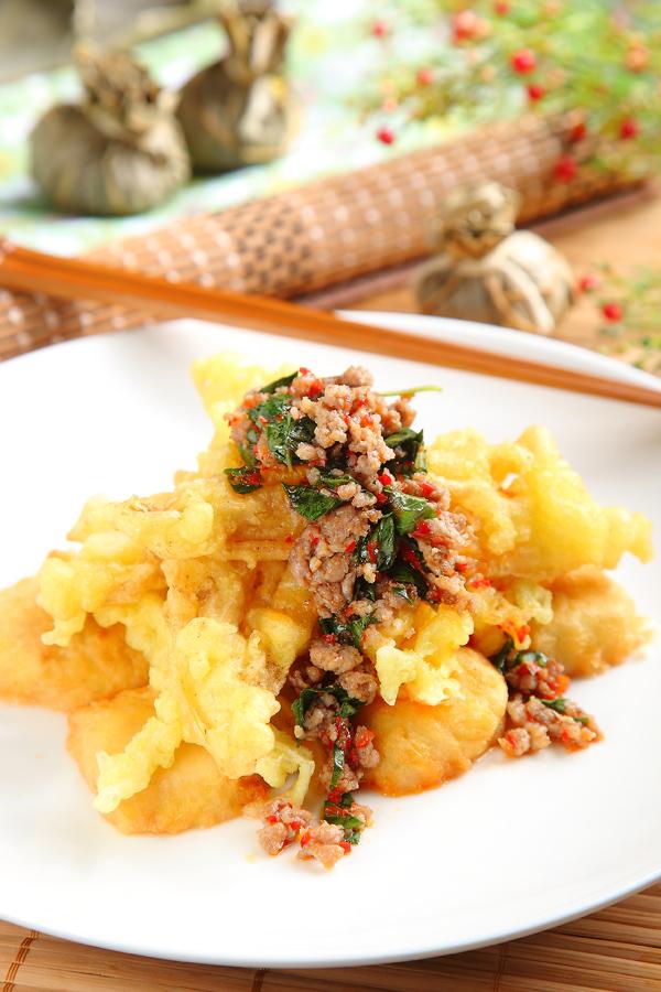 椒麻菇酥豆腐