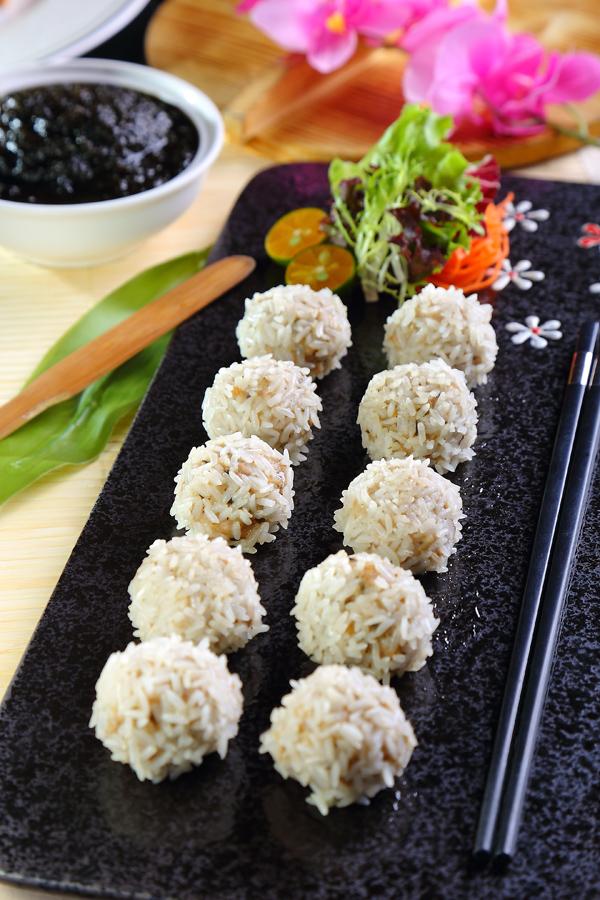 海苔香菇珍珠丸子