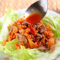 泡菜牛肉莴苣沙拉
