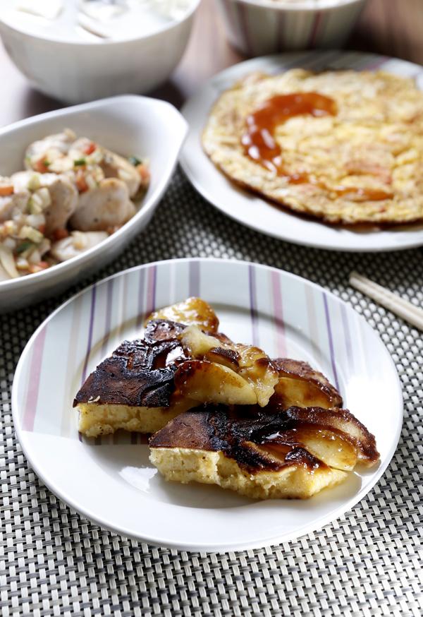 肉桂焦糖苹果松糕