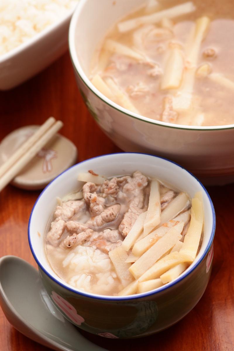 绿竹笋饭汤
