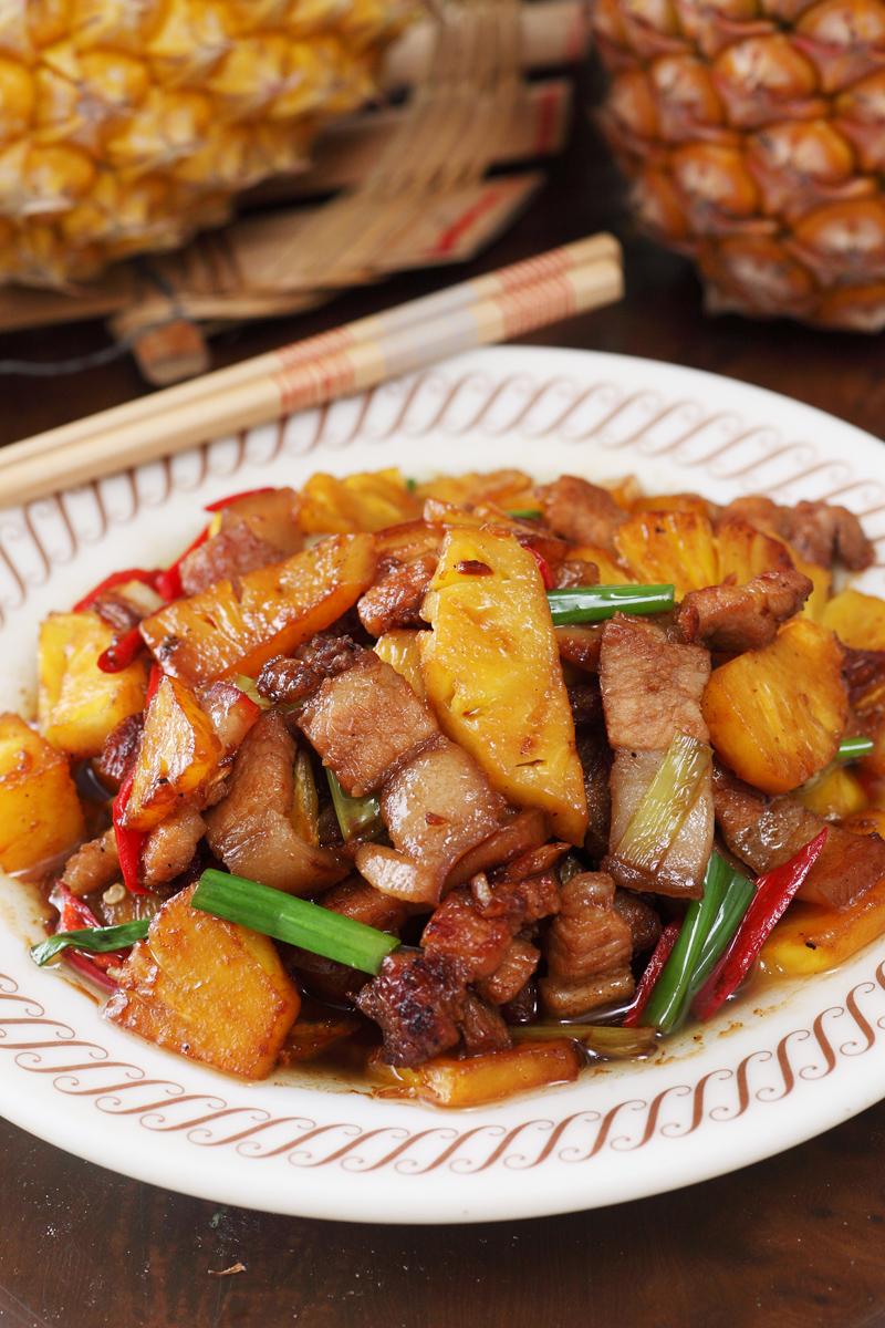 凤梨炒三层肉