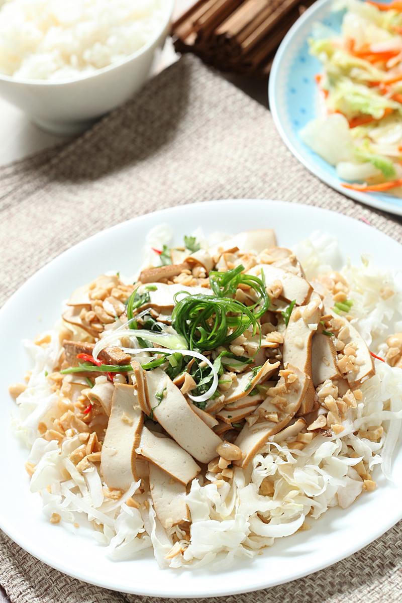 白菜丝拌豆干