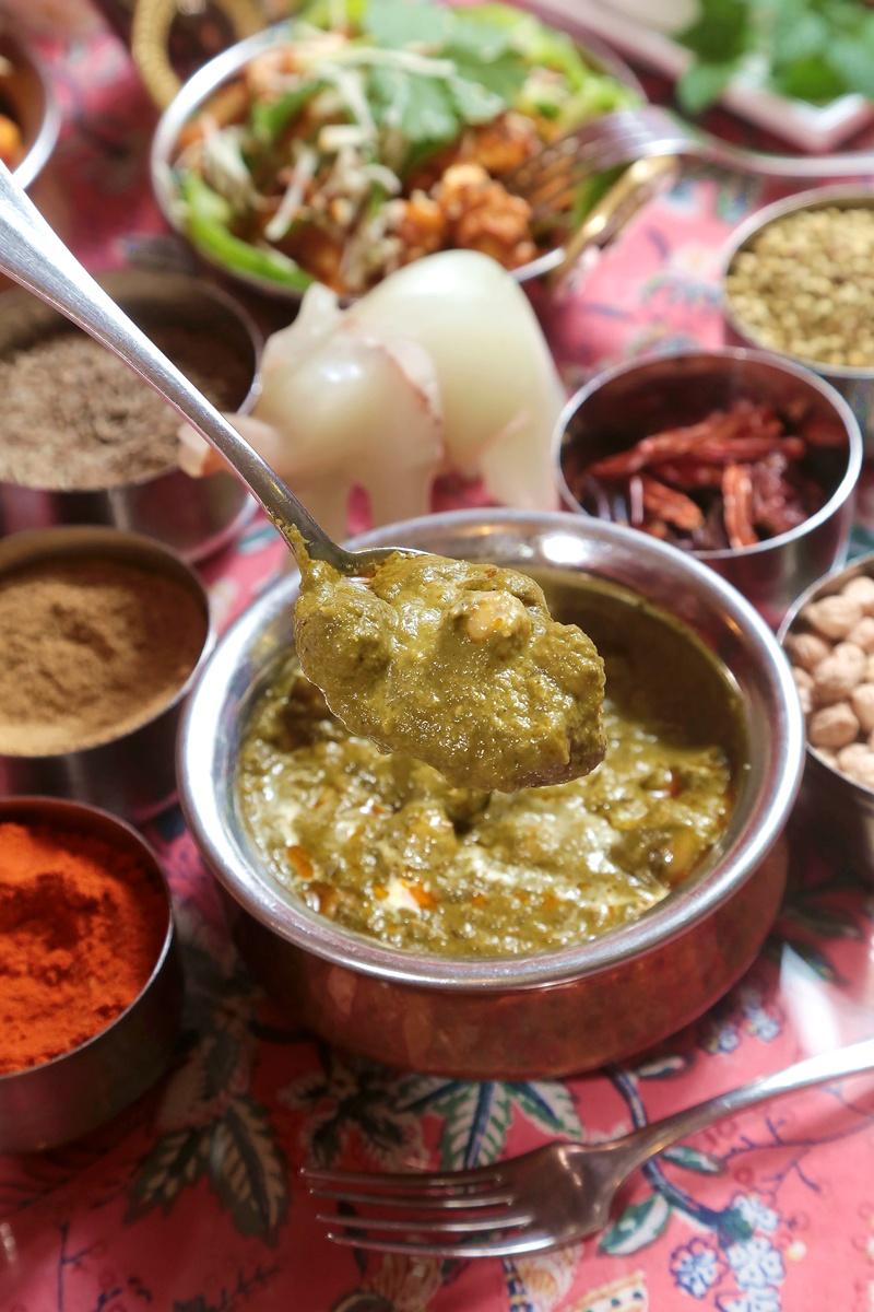 菠菜绿咖哩埃及豆