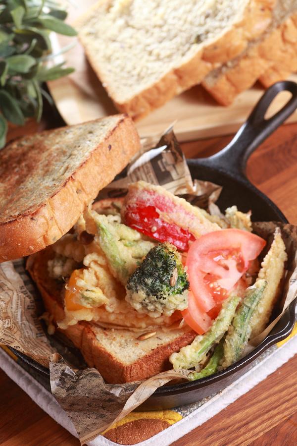 日式炸蔬菜三明治